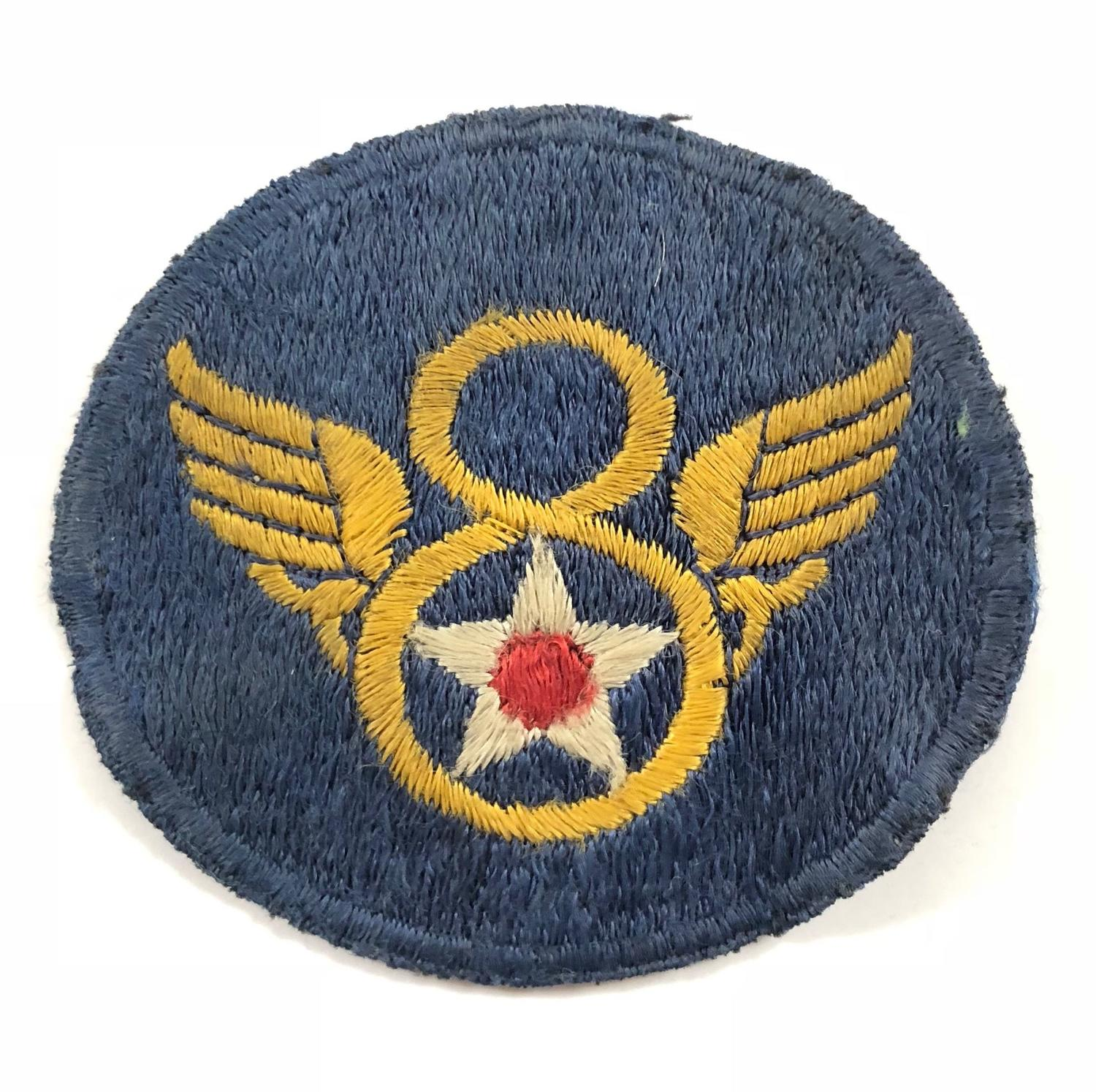 WW2 US 8th Airforce UK Made Shoulder Patch Badge.