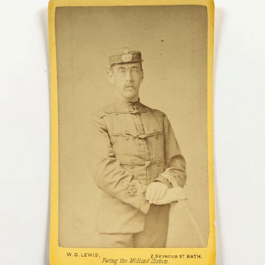 Bath 1878 Rifle Volunteer / Militia carte de visite. Photograph
