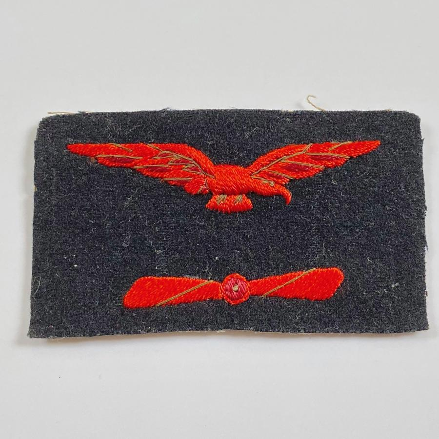 WW1 Royal Naval Air Service RNAS Working Dress Engineer's Badge.