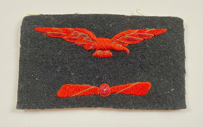 WW1 Royal Naval Air Service RNAS Working Dress Engineer's Badge.
