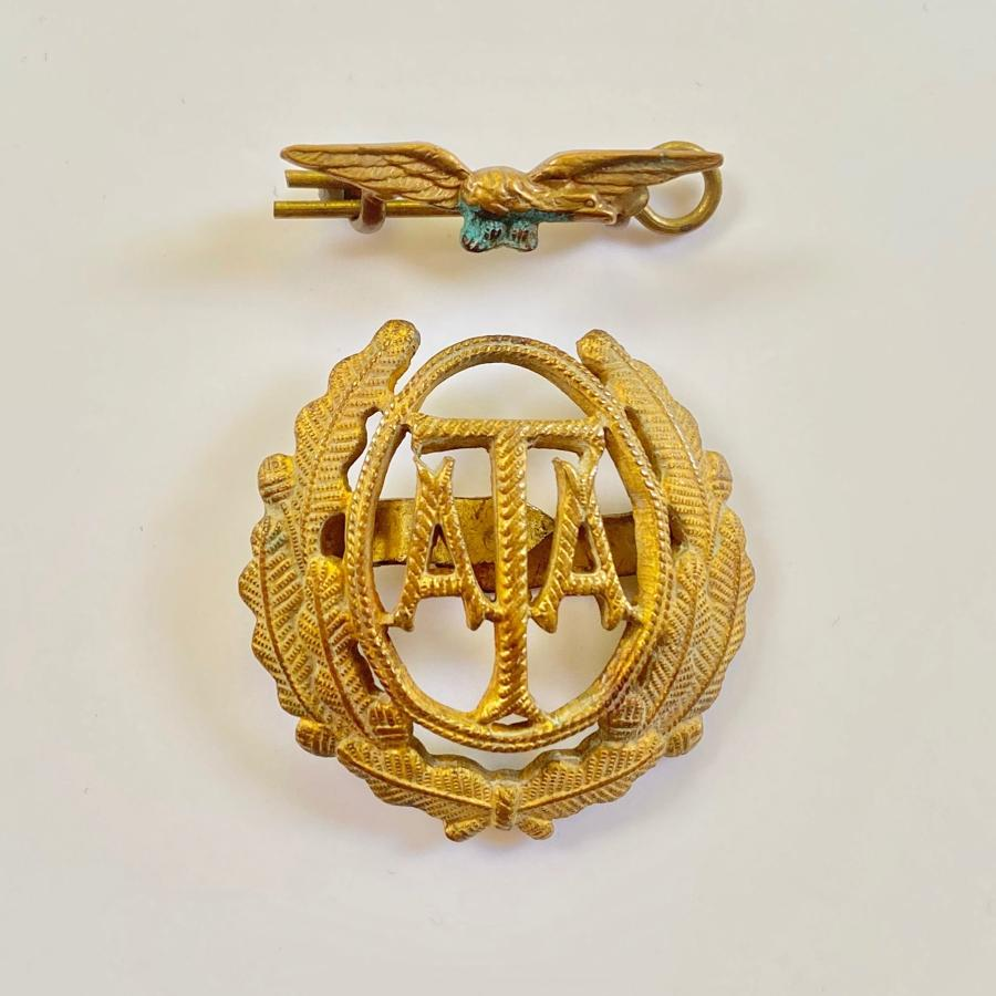 WW2 Air Transport Auxiliary ATA Side Cap Cap Badge.