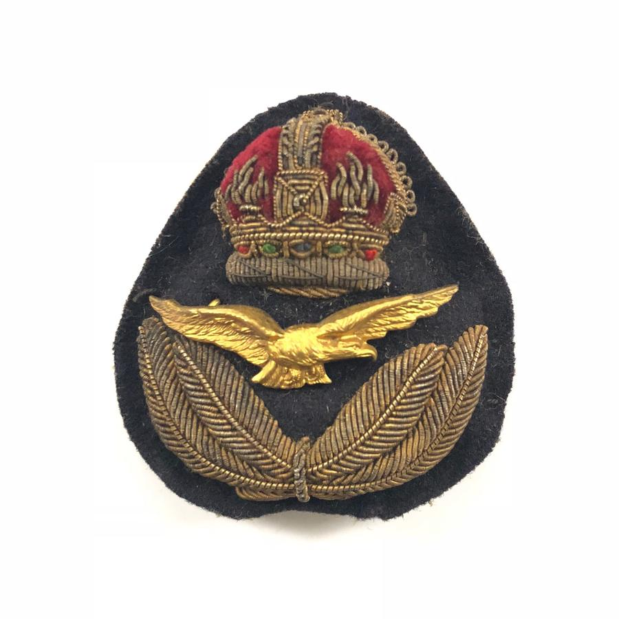 RAF Interwar / Early WW2 Officer's Cap Badge.