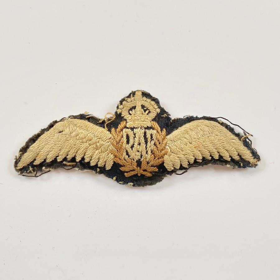WW2 RAF Padded Pilots Wings.