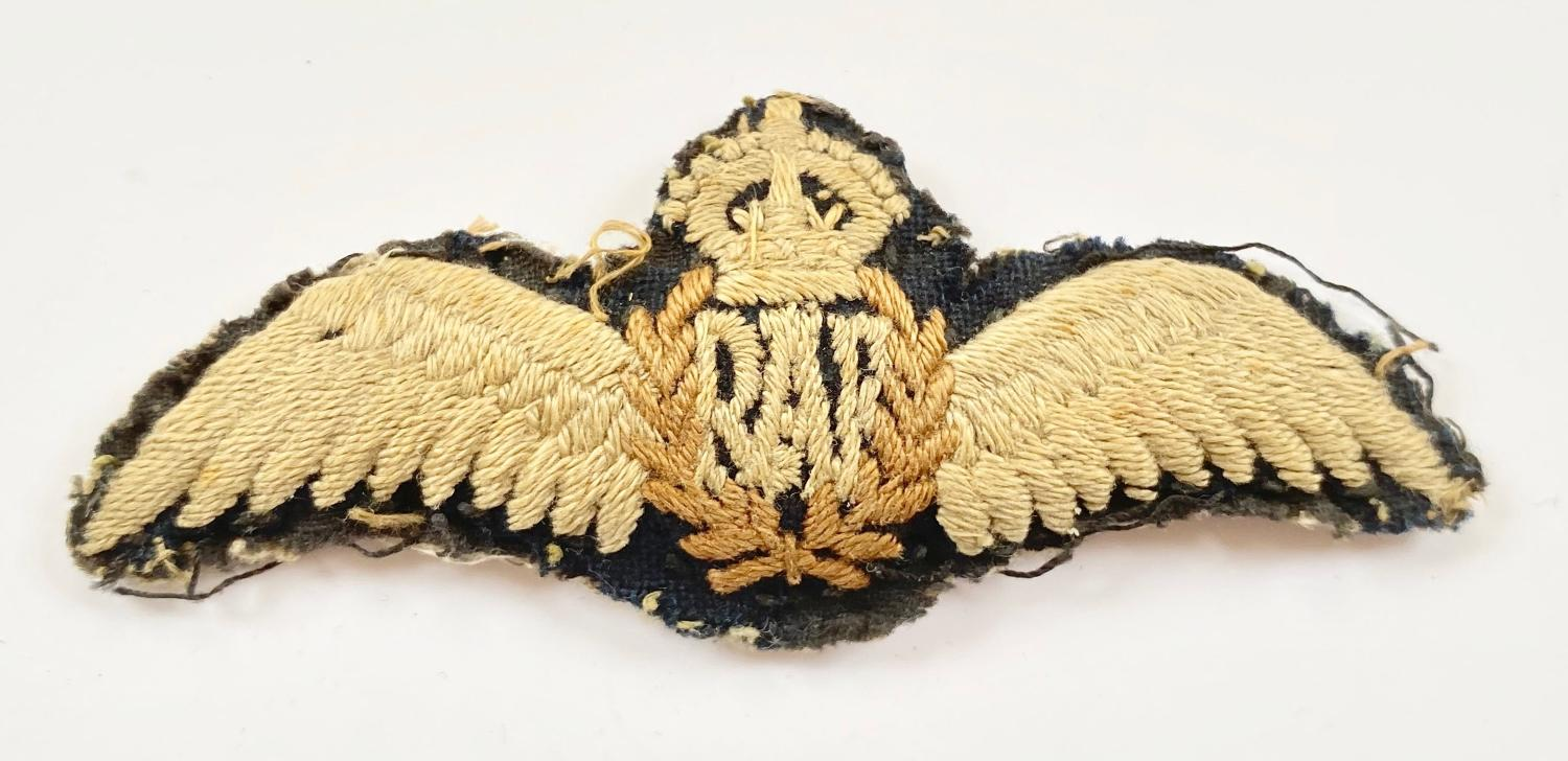 WW2 RAF Padded Pilots Wings.