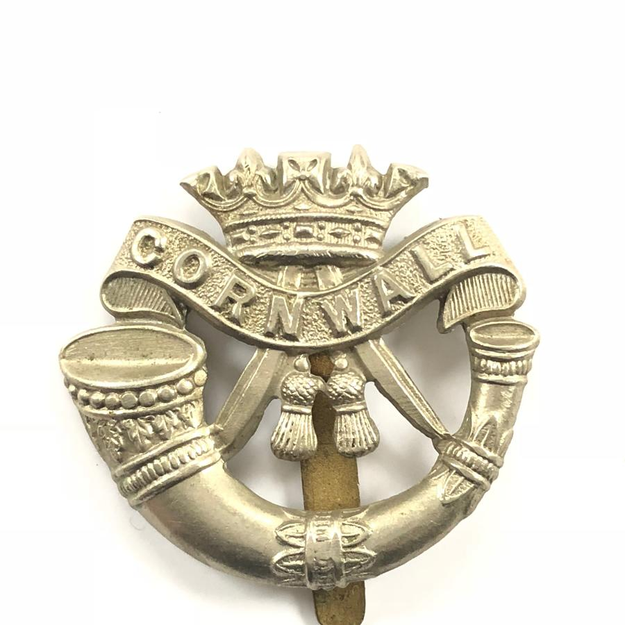 WW1/ WW2 Duke of Cornwall's Light Infantry Cap Badge.