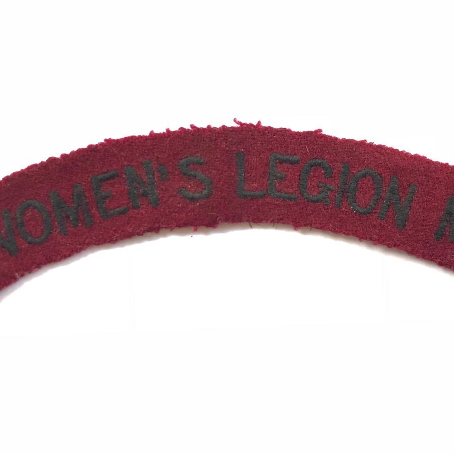 WW1 Women's Legion M.D. Cloth Shoulder Title.