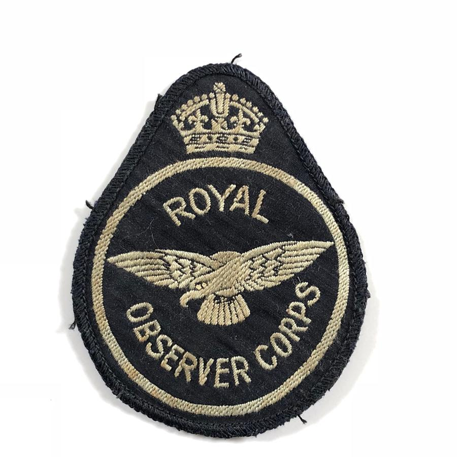 WW2 Period Royal Observer Corps Breast Badge.