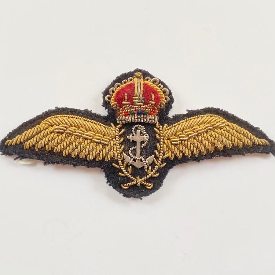 WW2 Pattern Fleet Air Arm Attributed Pilots Wings.