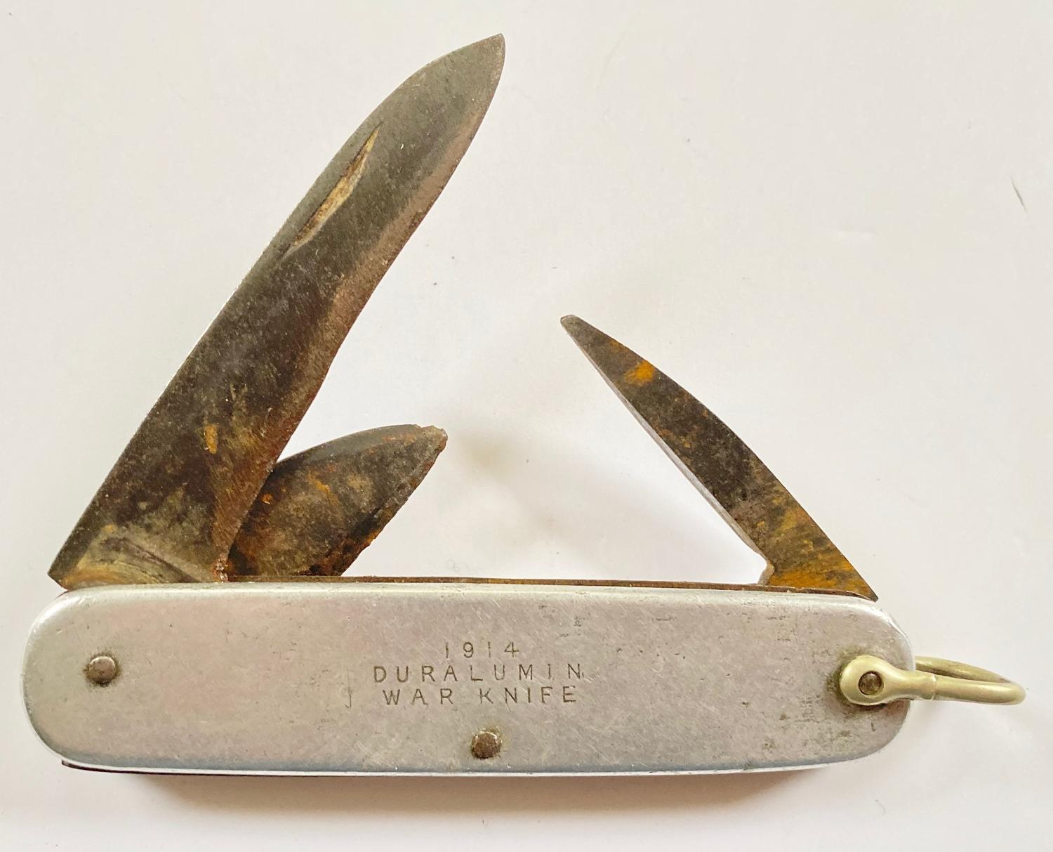 WW1 1914 Duralumin War Knife Pen Knife.