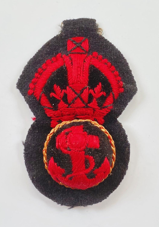 WW1 / WW2 Pattern Royal Navy Ratings Cap Badge.