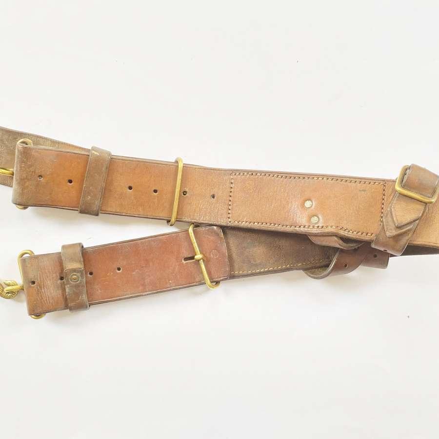 WW1 1914 Pattern Leather Equipment Waistbelt.