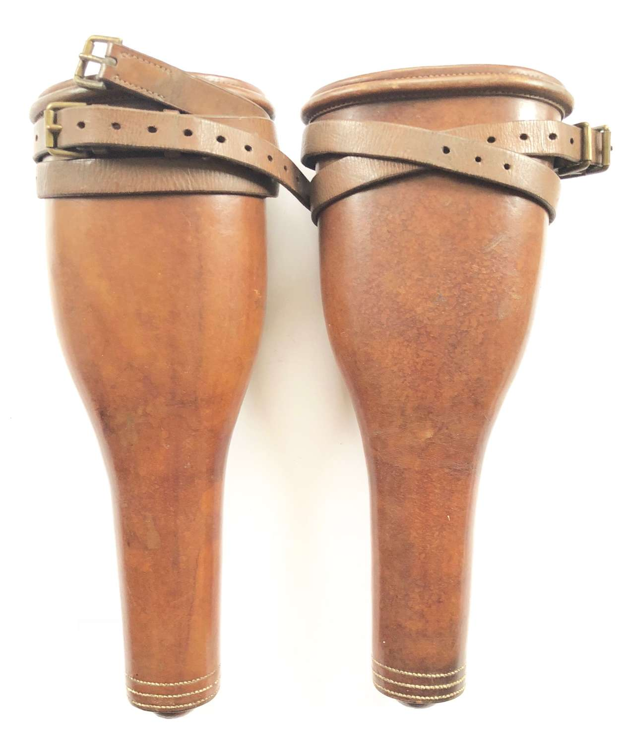 Victorian Military Polished Leather Cavalry Pistol Holsters.