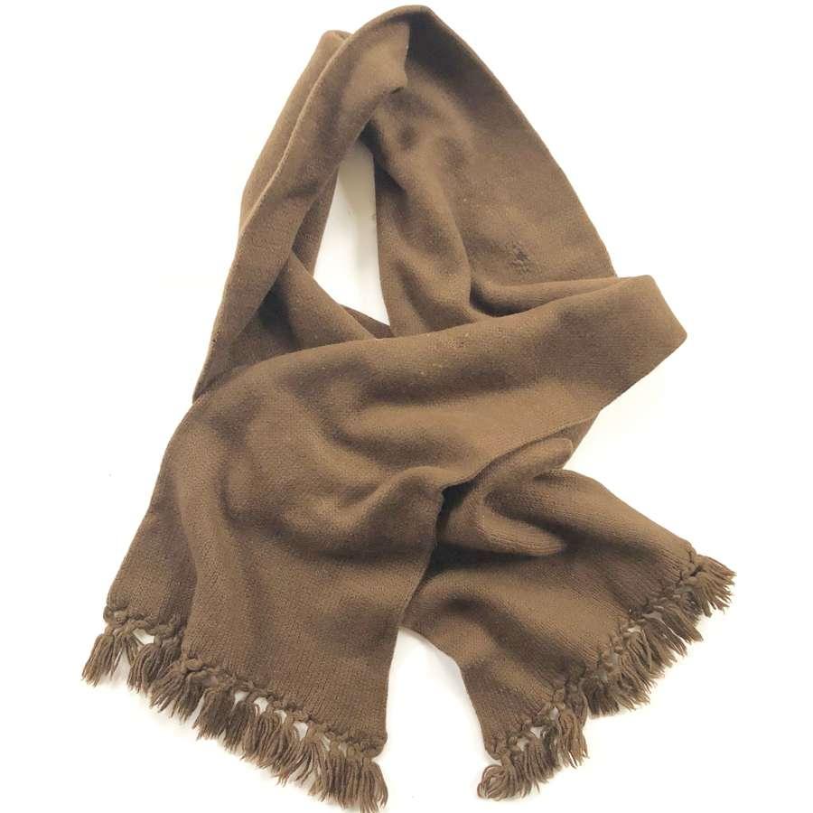 WW1 / WW2 Pattern Tommy's Comforts Wool Scarf.