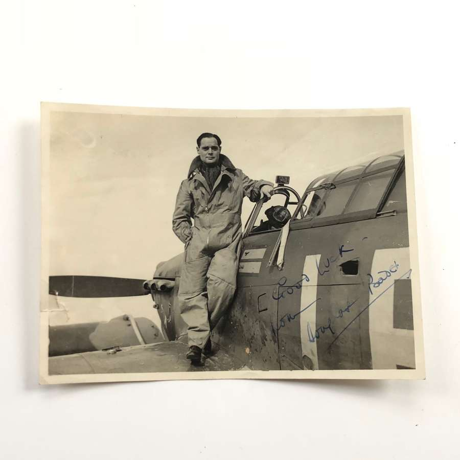 RAF Fighter Ace Douglas Bader Signed Photograph.
