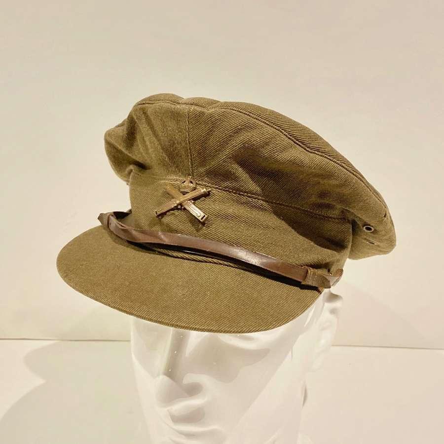 WW1 Machine Gun Corps MGC  Officer's Soft Floppy Trench Cap.