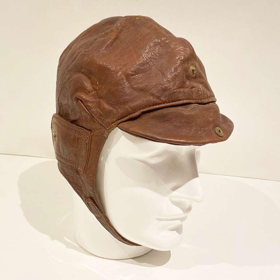 WW1 Style RFC, RNAS, RAF Flying Helmet.