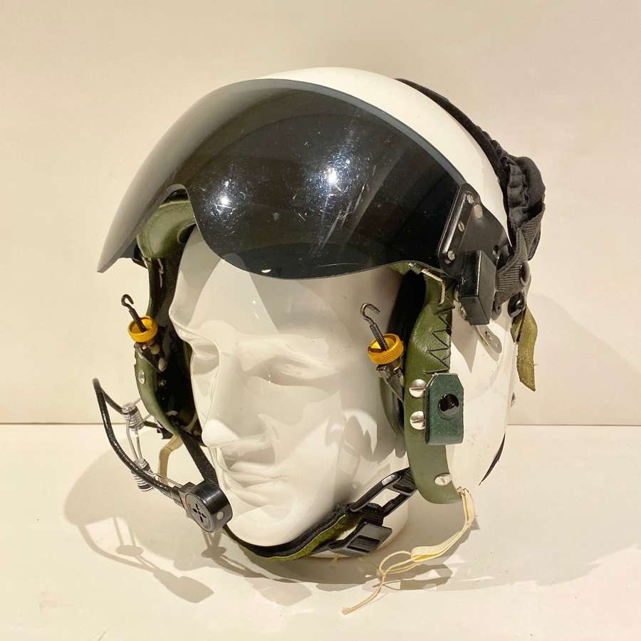 Helicopter Pilots Bone Dome Flying Helmet.