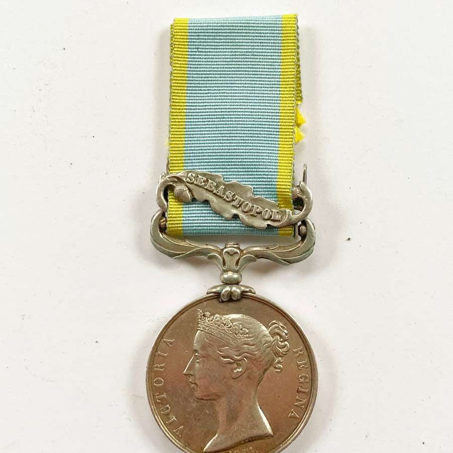 34th (Cumberland)  Regiment Single clasp Crimea Medal.