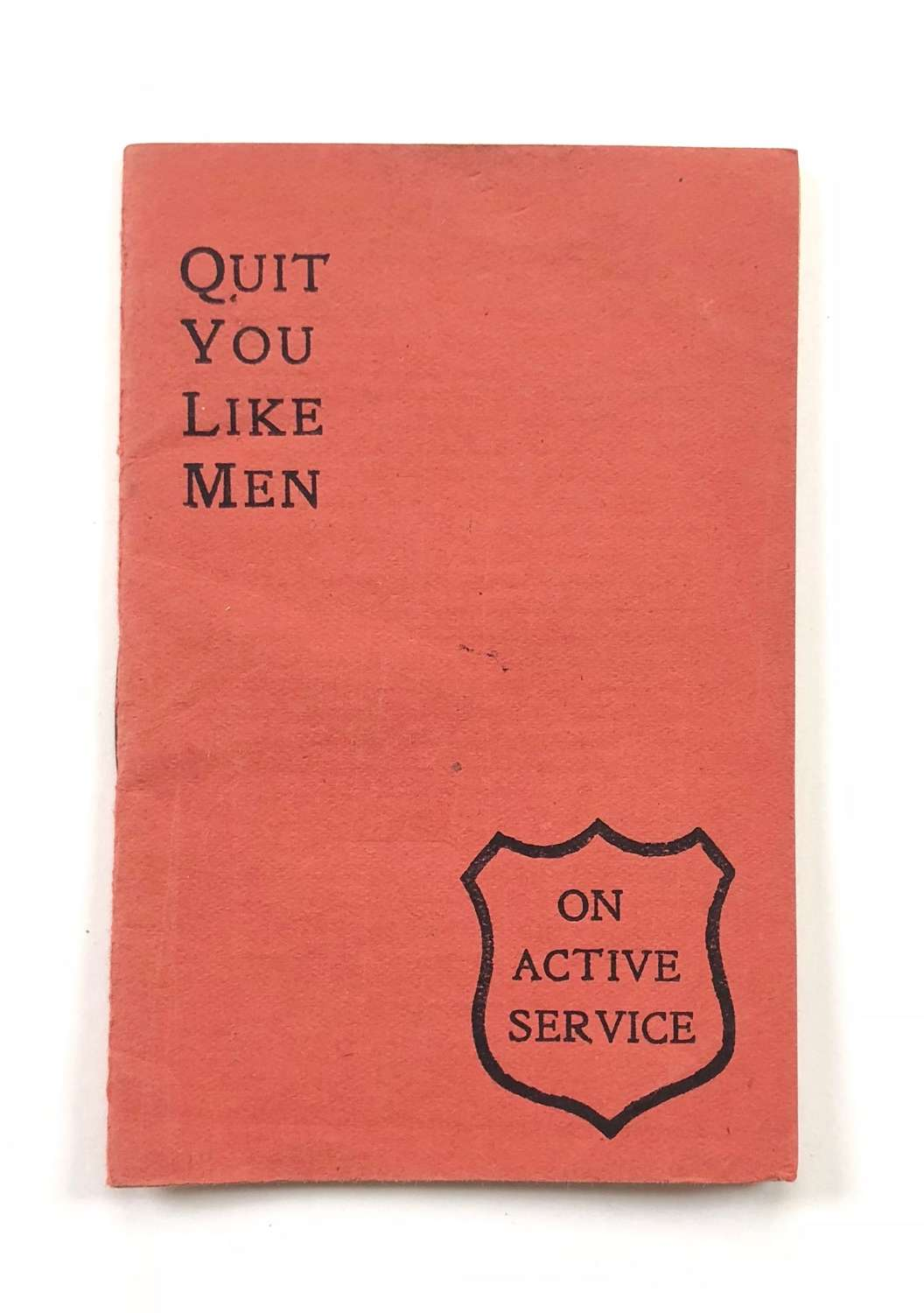 WW1 British Soldiers Comfort Methodist Booklet.