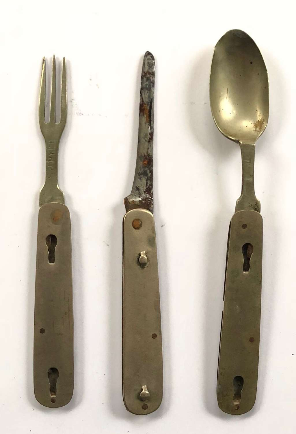 WW1 Soldier's Comforts Knife Fork & Spoon Combination.