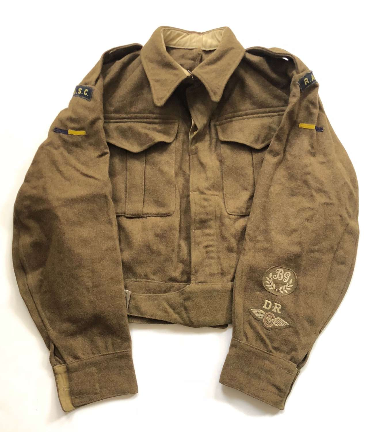 WW2 Royal Army Service Corps Battledress Blouse.