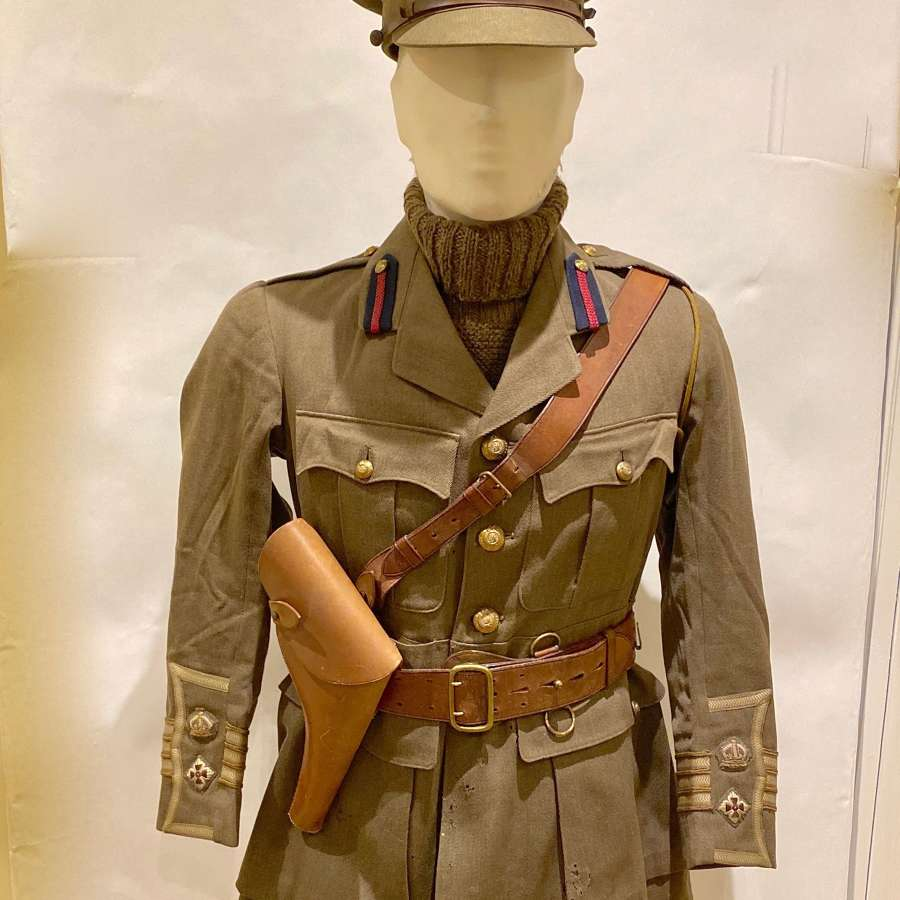 WW1 Royal Engineers Attributed Officer's Tunic, Cap & Belt