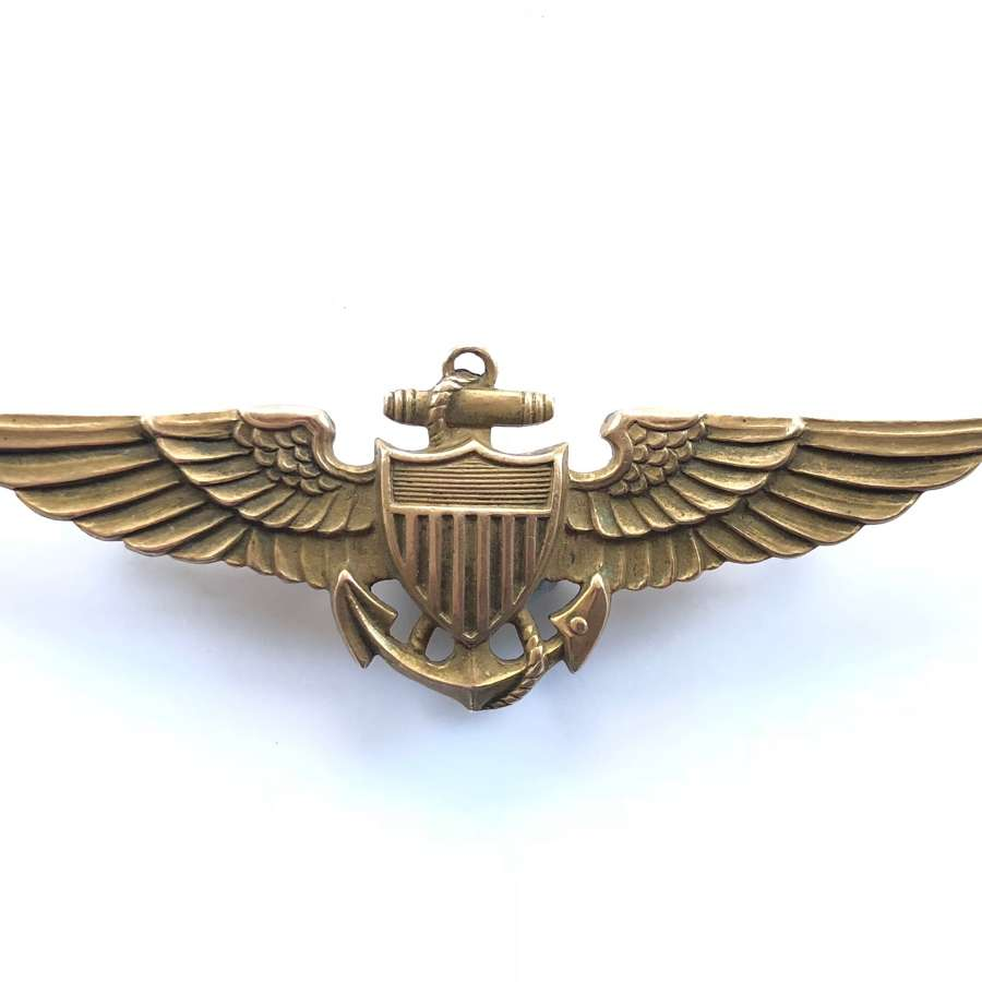 United States Navy Silver Pilot Wings.
