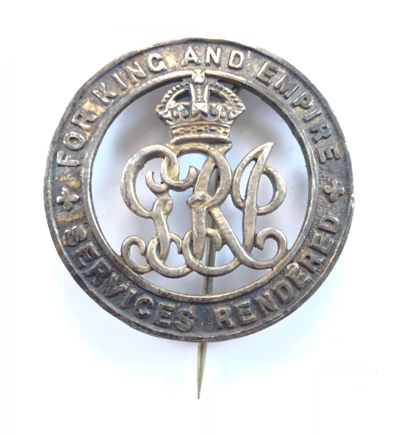WW1 Royal Dublin Fusiliers Silver War Badge.