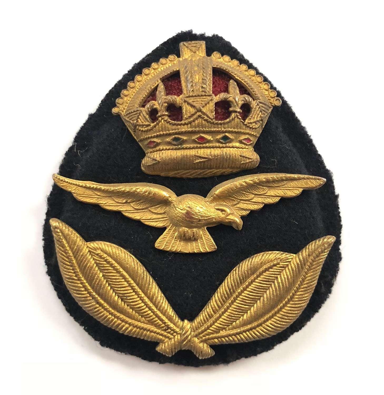 WW2 Royal Australian Air Force RAAF Officer's Cap Badge.