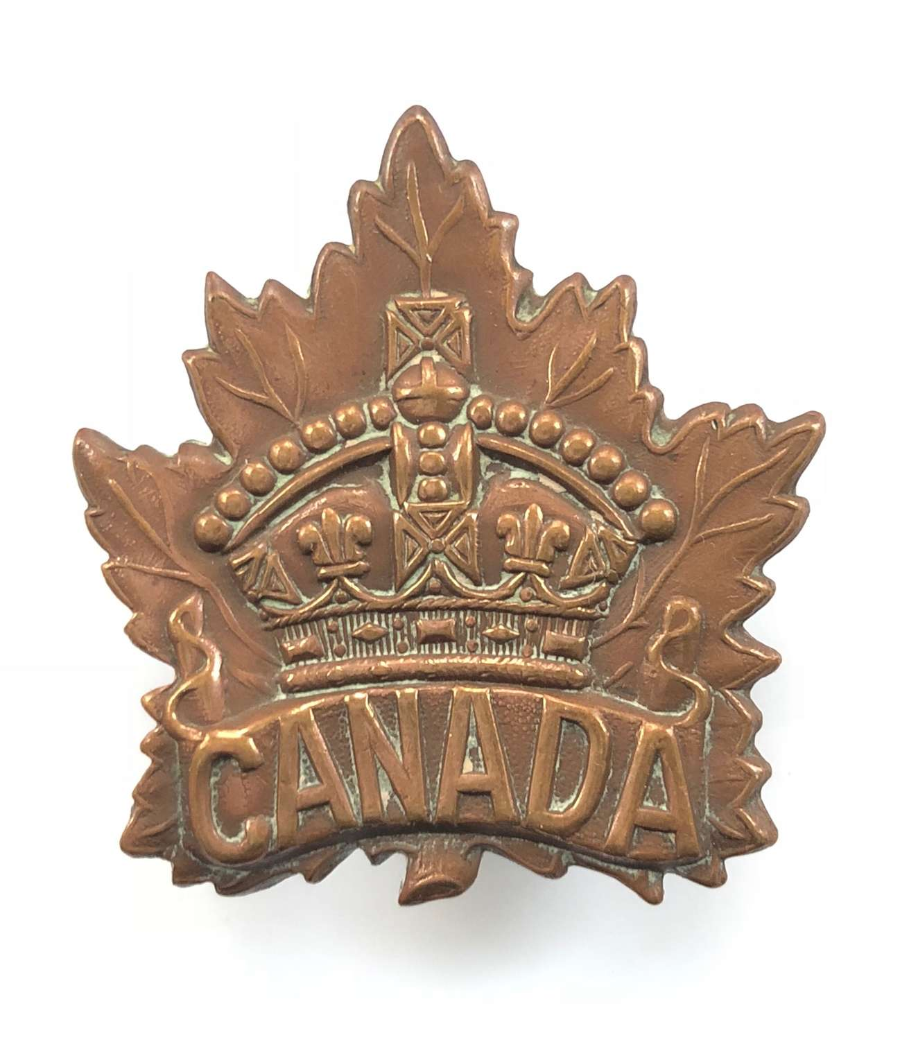 WW1 1915 Canadian Forces Cap Badge by Birks.