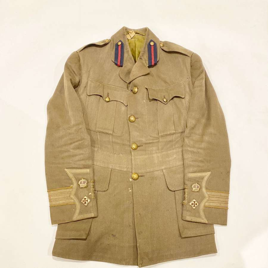 WW1 Royal Engineers Attributed Cuff Rank Officer's Tunic.
