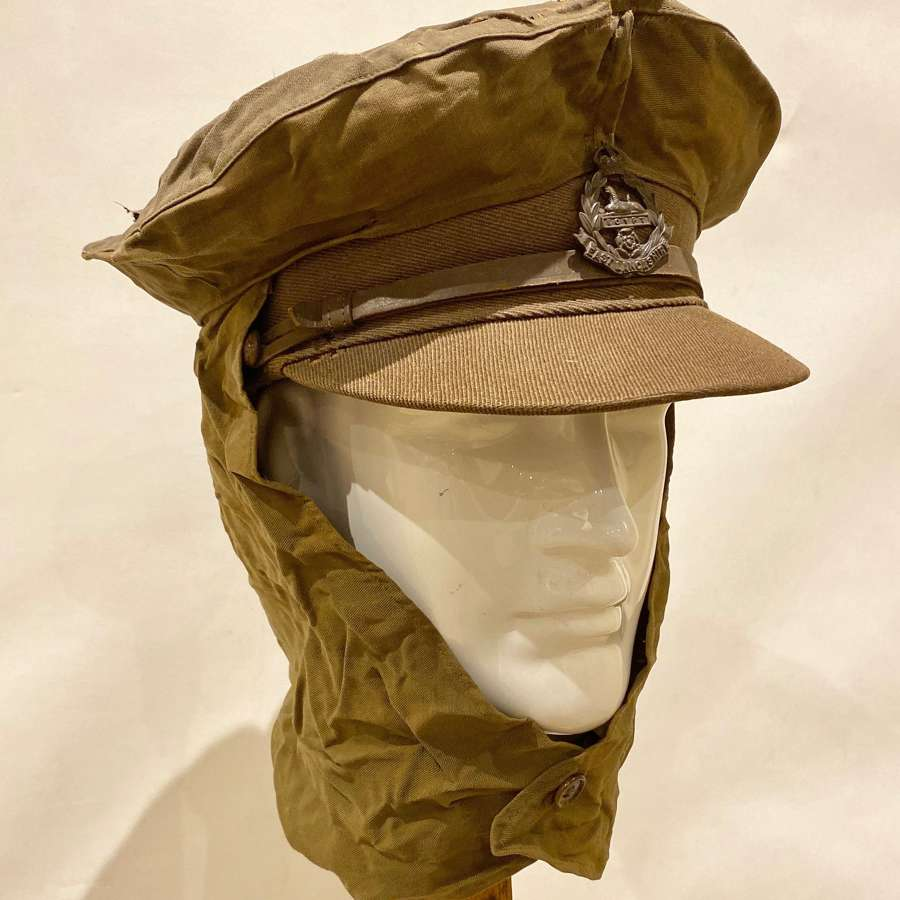 WW1 British Officer's Foul Weather Trench Cap Cover.