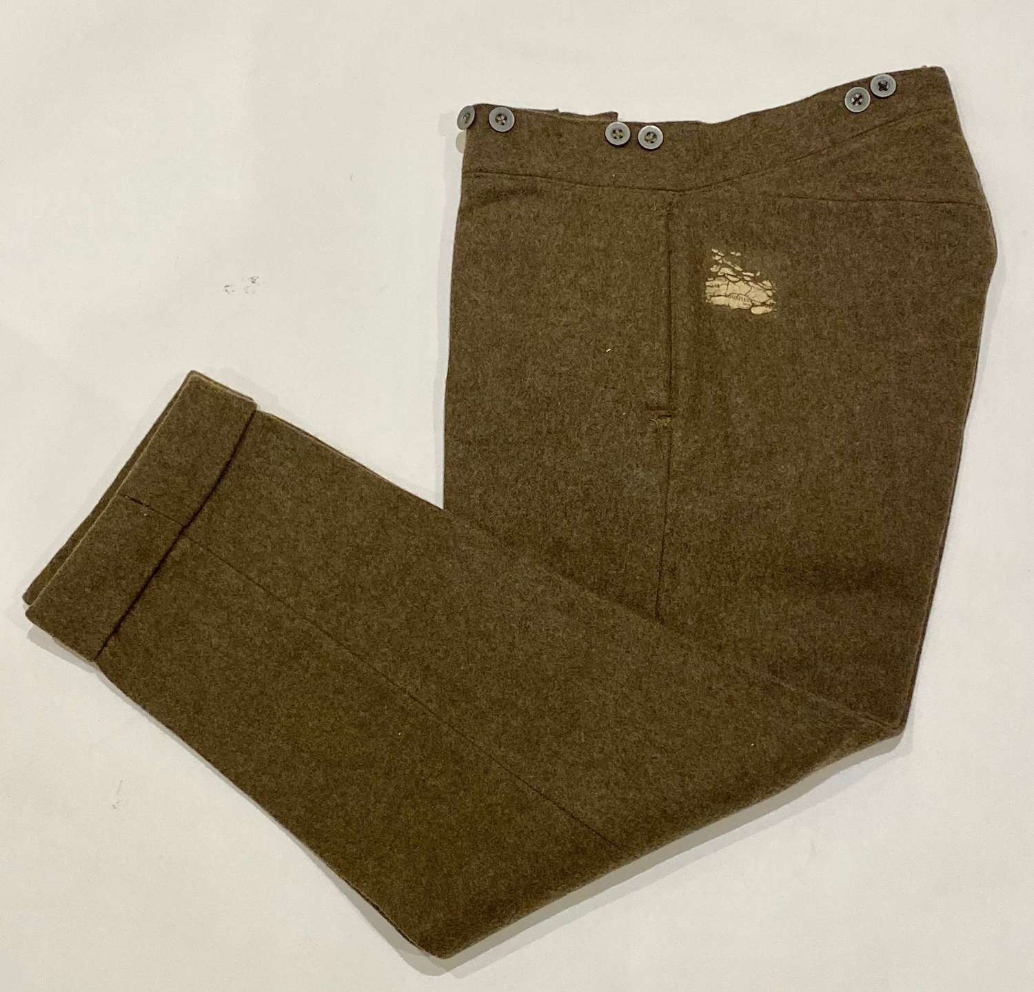 WW1 1918 Dated 1902 Pattern Other Rank's Trousers.