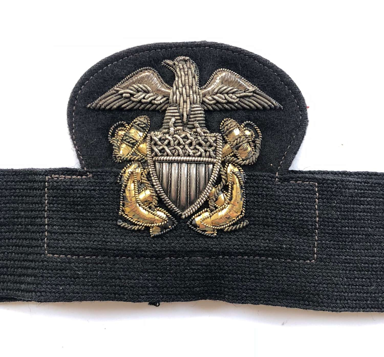 US Navy Officer's Bullion Cap Badge.