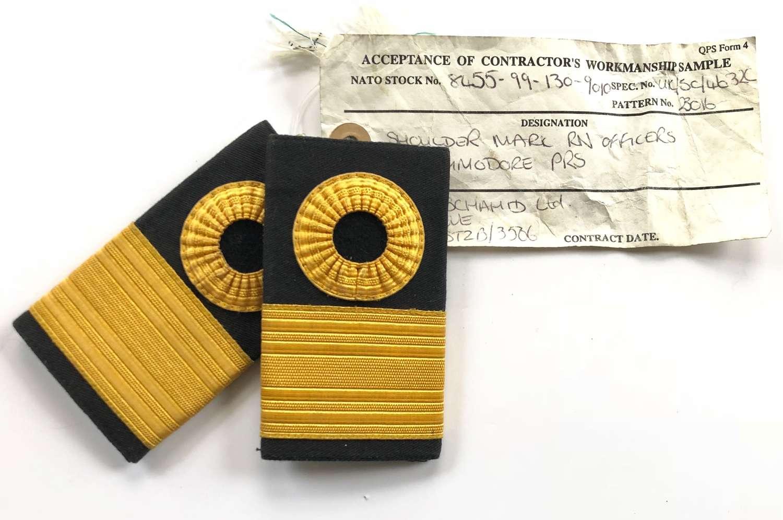 Royal Navy 1998 Sealed Pattern Commodore Slip On Rank Slides.