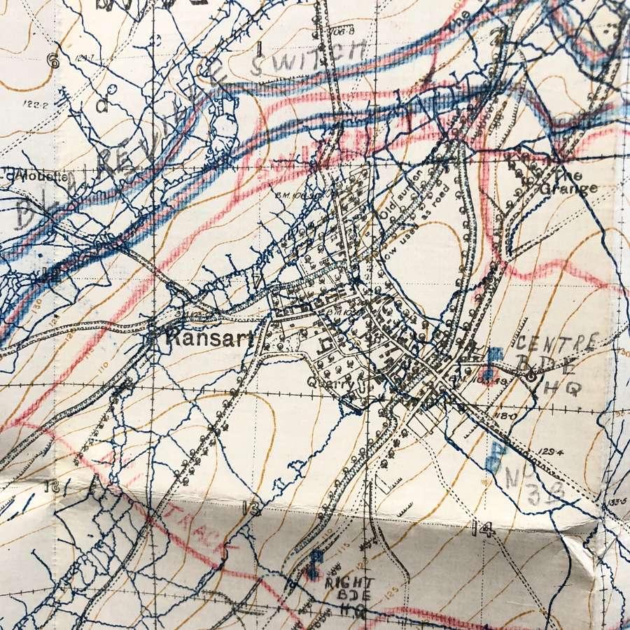 WW1 British Army February 1917 Trench Map. Sheet 51c SE