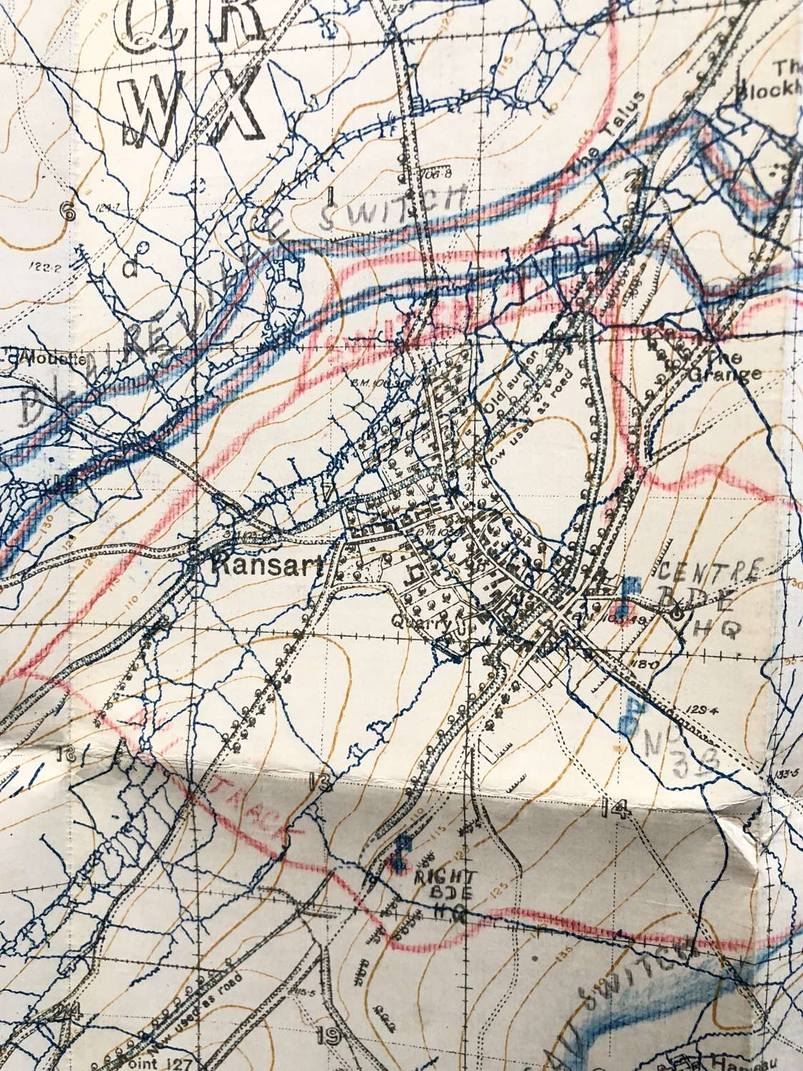 WW1 British Army February 1917 Trench Map. Sheet 51c SE