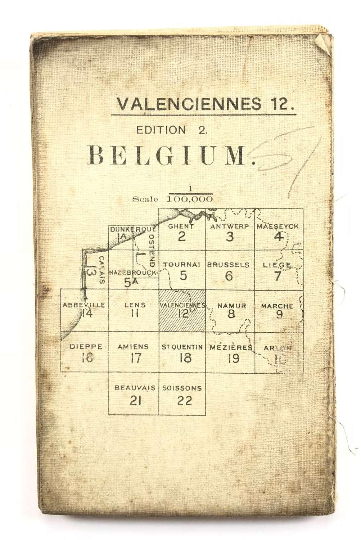 WW1 British Army 1916 Map. Belgium Valenciennes 12