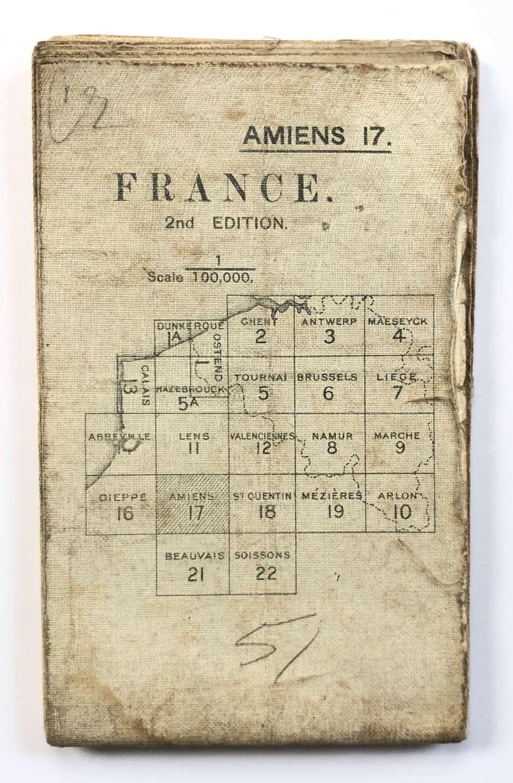 WW1 British Army 1916 Map. France Amiens 17