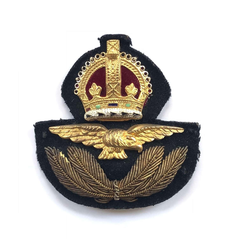 WW2 RAF Economy Officer's Cap Badge.