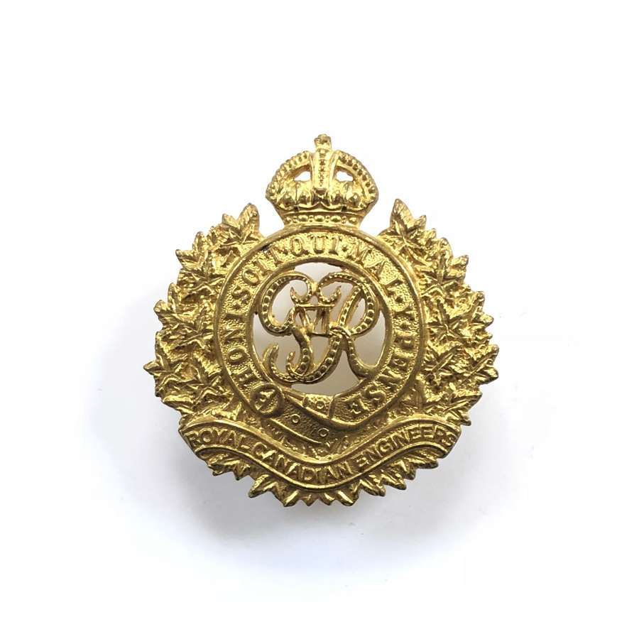 WW2 Royal Canadian Engineers Cap Badge.
