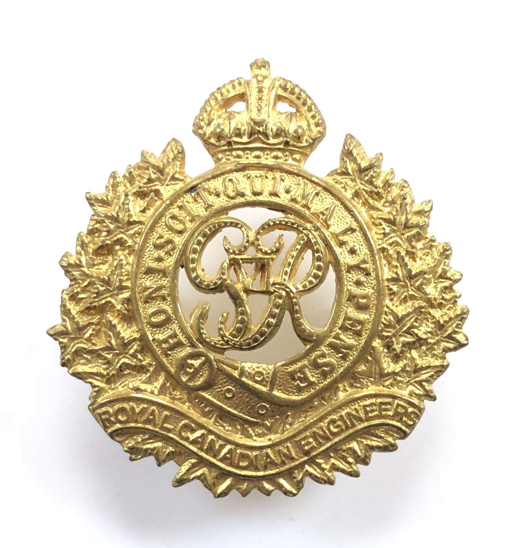 WW2 Royal Canadian Engineers Cap Badge.