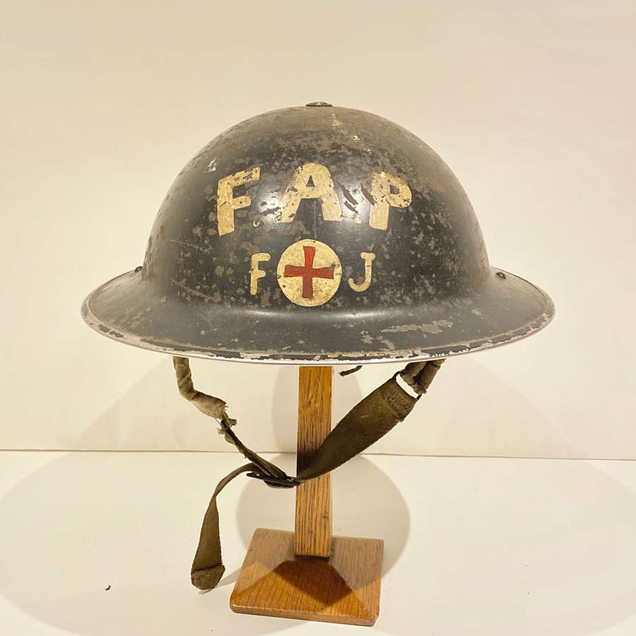 WW2 First Aid Post Home Front Steel Helmet.