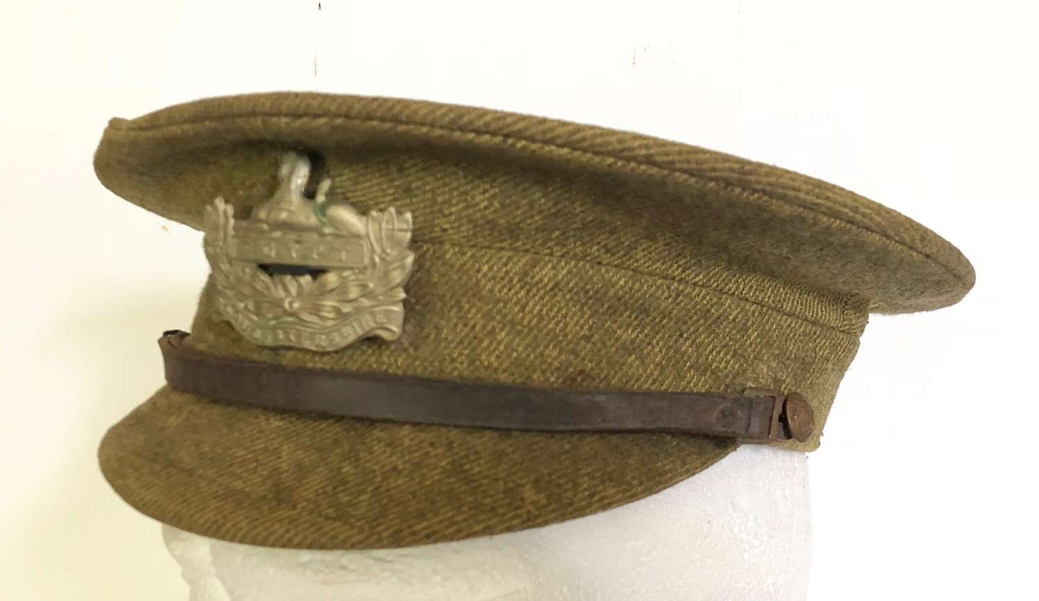 "WW1 Gloucestershire Regiment 1905 Pattern ""Stiff"" Cap."