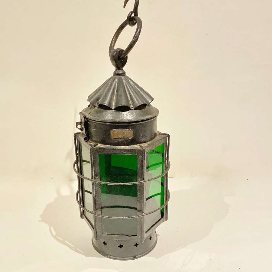 WW1 1916 Dated British Lantern by Alfred F. Genton