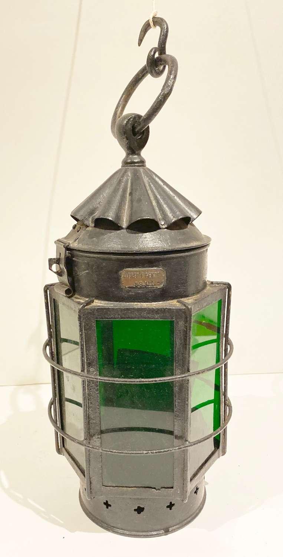 WW1 1916 Dated British Lantern by Alfred F. Genton