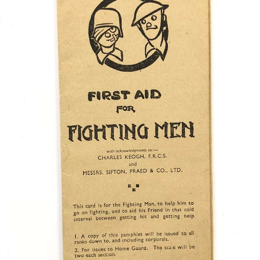 WW2 First Aid For Fighting Men Pamphlet.