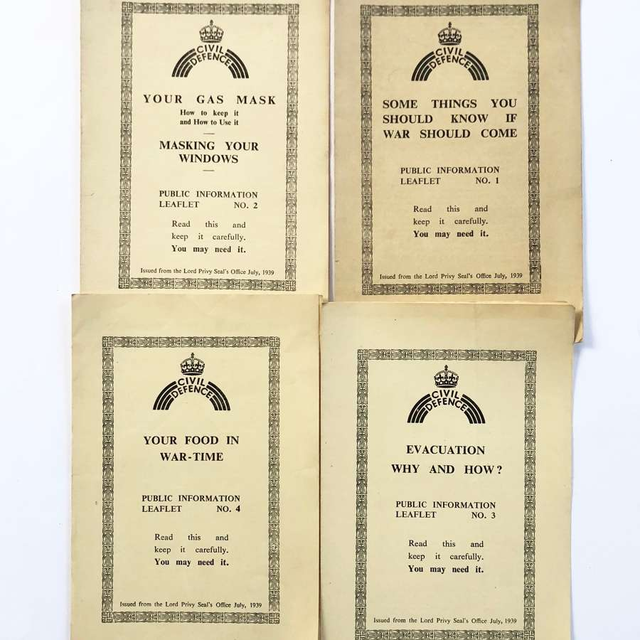 WW2 Home Front Civil Defence Pamphlets 1-4.