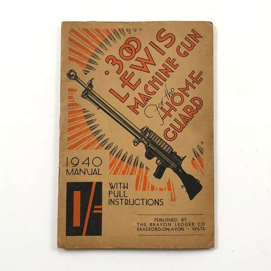 WW2 1940 Home Guard Manual .303 Lewis Machine Gun.