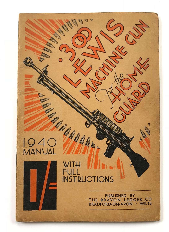 WW2 1940 Home Guard Manual .303 Lewis Machine Gun.